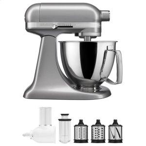 KitchenaidExclusive Artisan® Series Stand Mixer & Fresh Prep Attachment Set - Contour Silver