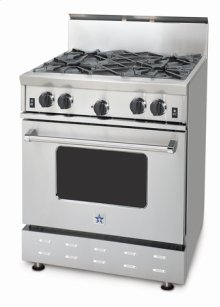 "30"" BlueStar - Residential Nova Burner (RNB). Gas Range with 4.5 Cu. Ft. Convection Oven"