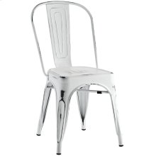 Promenade Steel Dining Side Chair in White