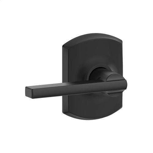 Latitude lever with Greenwich trim Hall & Closet lock - Matte Black