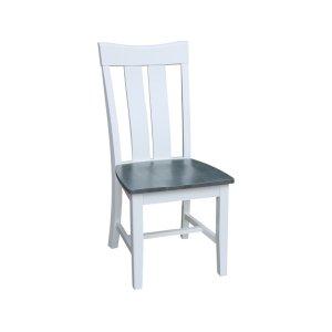 JOHN THOMAS FURNITUREAva Chair in Heather Gray & White