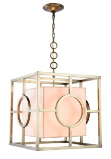Quatro Collection 2-Light Burnished Brass Finish Pendant