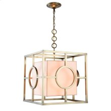 Quatro Collection 2-Light Burnished Brass Finish Pendant