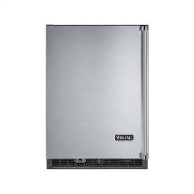 """Stainless Steel 24"""" Wide Beverage Center with Ice Maker - VURI (Left Hinge Door)"""