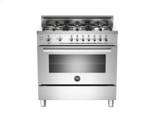Stainless 36 6-Burner, Gas Oven LP