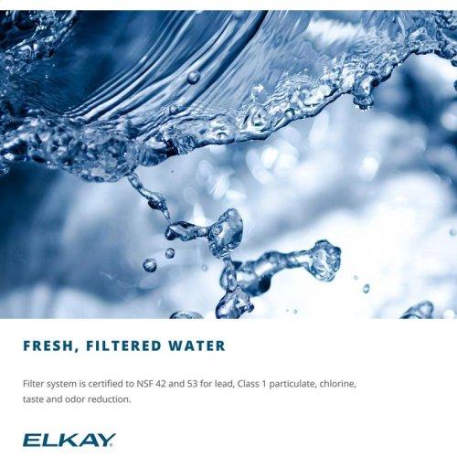Elkay Versatile Cooler Wall Mount Bi-Level ADA Filtered, 8 GPH Stainless