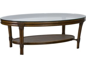 Amalie Bay Oval Cocktail Table