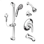 American StandardCommercial Shower System with Showerhead & Tub Spout, 2.5 gpm - Polished Chrome