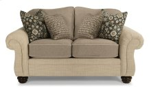 Bexley Two-Tone Fabric Loveseat without Nailhead Trim