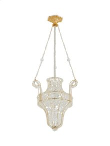 Antique Gold Crystal Pendant Chandelier with Renaissance Canopy