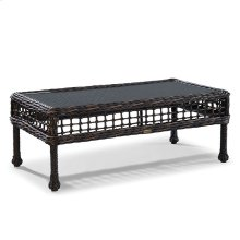 Moraya Bay Cocktail Table W/Woven Insert & Clear Glass