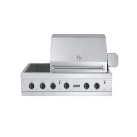"Stainless Steel 41"" Ultra-Premium E-Series Grill with TruSear™ Side Griller - VGIQ (41""W. E-Series with two standard 30,000 BTU burners and side burners (Natural Gas))"