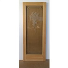 Cedar Grape Glass Door - Old Stock (CALL FOR FREIGHT QUOTE)