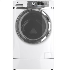 GE® ENERGY STAR® 4.8 DOE cu. ft. capacity RightHeight Design Front Load washer ***FLOOR MODEL CLOSEOUT PRICING***
