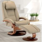 Cobblestone (Tan) Top Grain Leather with Walnut Finish - Reclines - Swivels - Lumbar Support - Adjustable Headrest - Quality Breathable Air Leather Product Image