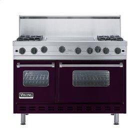 """Plum 48"""" Open Burner Range - VGIC (48"""" wide, four burners 24"""" wide griddle/simmer plate)"""