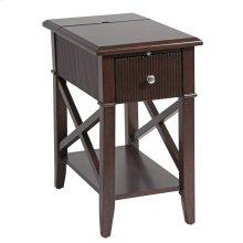 Baldwin 1-drawer Chairsider In Rich Cordovan