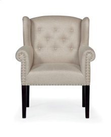 Bowery Upholstered Arm Chair in Chocolate