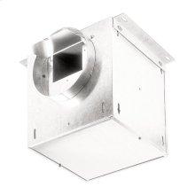 "Ventilator; 293 CFM Straight Through, 3.1 Sones; 283 CFM Right Angle, 2.4 Sones. 8"" rd. duct connectors. 120V"