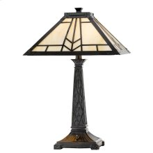 60W X 2 Mission Tiffany Table Lamp