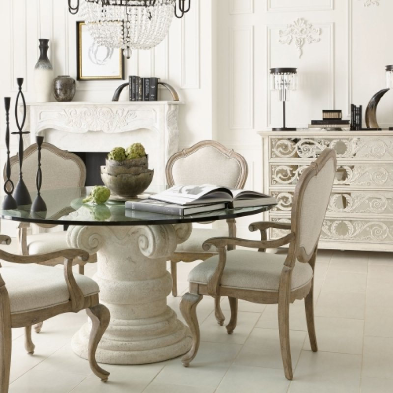 E In By Bernhardt In Torrance CA Campania Round Dining - Torrance dining table