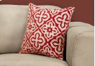 """PILLOW - 18""""X 18"""" / RED MOTIF DESIGN / 1PC Product Image"""