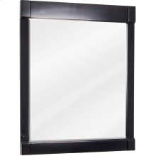 "28"" x 34"" Beveled glass mirror with Espresso finish."