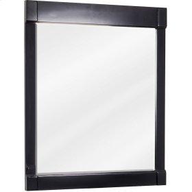 "28"" x 34"" Beveled glass mirror with Espresso finish."