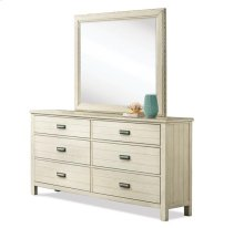 Aberdeen Six Drawer Dresser Weathered Worn White finish