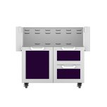 "Hestan36"" Hestan Outdoor Tower Cart with Door/Drawer Combo - GCR Series - Lush"