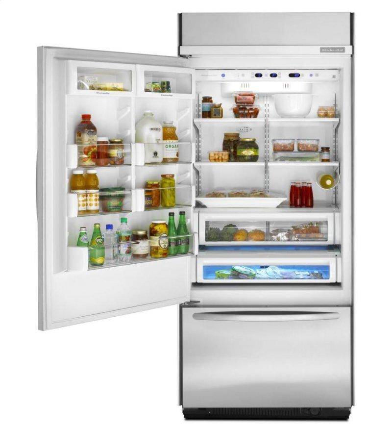 20.8 Cu. Ft. 36-Inch Width Built-In Bottom-Freezer Refrigerator, Architect®  Series II - Stainless Steel