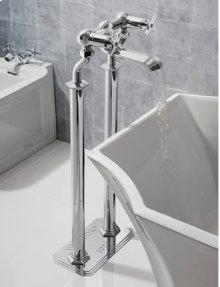 Waldorf Floor-mount Pillar Legs - Polished Chrome