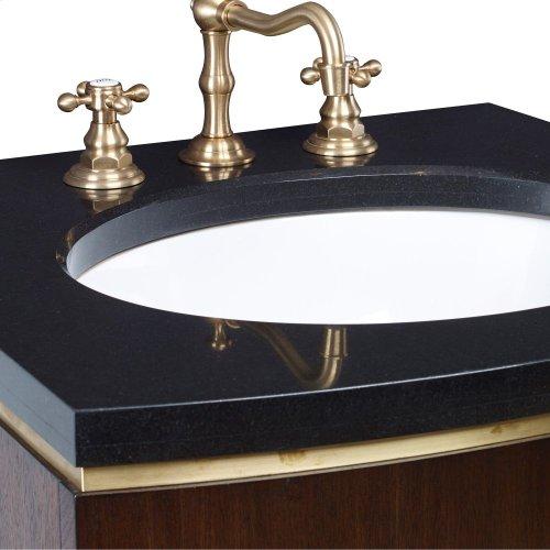 Cirque Petite Wall Sink Chest -Dk Walnut