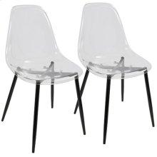 Clara Dining Chair - Set Of 2 - Black Metal, Clear Acrylic