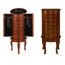 """Woodland Cherry"" Jewelry Armoire"