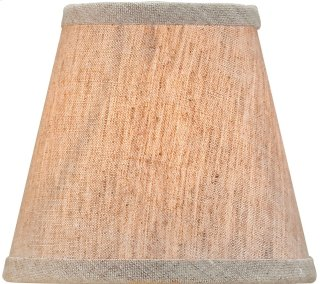 Natural Linen Shade, Small - 3 x 5 x 4.5
