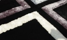 3D Rug Black and Grey colors