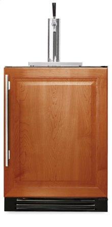 24 Inch Overlay Solid Door Beverage Dispenser - Right Hinge Overlay Solid
