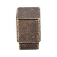 Tapered Small Square Knob 3/4 Inch - German Bronze