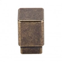 Tapered Square Knob 3/4 Inch - German Bronze