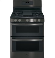 "GE® 30"" Free-Standing Gas Double Oven Convection Range Product Image"
