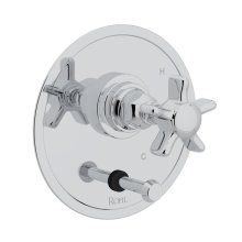 Polished Chrome San Giovanni Pressure Balance Trim With Diverter with Five Spoke Cross Handle