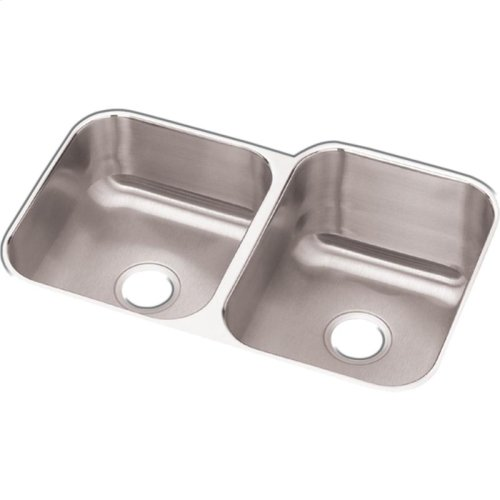 "Dayton Stainless Steel 31-3/4"" x 20-1/2"" x 10"", Offset Double Bowl Undermount Sink"