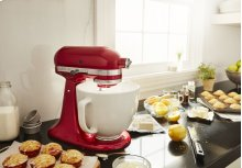 Exclusive Artisan® Series 5 Quart Tilt-Head Stand Mixer + 5 Quart Tilt-Head Ceramic Bowl Bundle - Empire Red