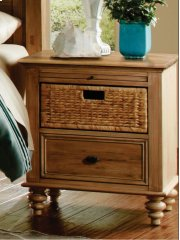CF-1200 Bedroom - Nightstand with Basket - Sunset Trading Product Image