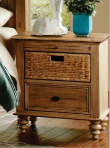 CF-1200 Bedroom - Nightstand with Basket - Sunset Trading