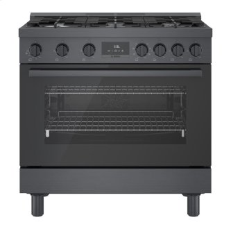 800 Series Dual Fuel Freestanding Range cm Black stainless steel HDS8645C