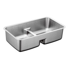 "1800 Series 29""x18"" stainless steel 18 gauge double bowl sink"