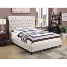 Devon Transitional Beige Queen Bed
