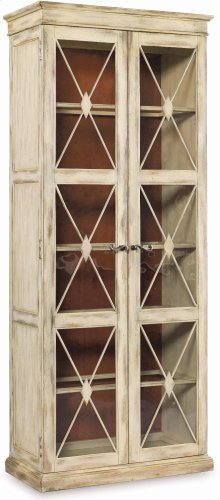 Sanctuary Two-Door Thin Display Cabinet - Dune